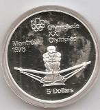 Canada 5 Dolari 1974 - Rowing, Argint 24.3g/925, Proff KM-91 UNC !!!, America de Nord