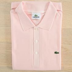 Tricou Polo Lacoste slim fit Pink - Tricou barbati, Marime: S, Culoare: Din imagine, Maneca scurta, Bumbac