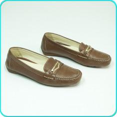 DE FIRMA → Pantofi/mocasini dama, DIN PIELE, comozi, usori, GEOX → femei | nr 37, Culoare: Coffee, Piele naturala