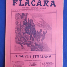 REVISTA FLACARA * ANUL IV - NR. 43 - 8 AUGUST 1915 * ARMATA ITALIANA