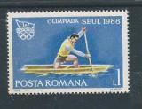 DEPARAIATE-1988 Romania,LP 1208 -J.O. de Vara,Seul,VAL 1 LEU-MNH, Sport, Nestampilat