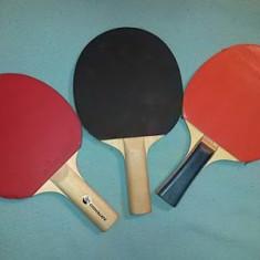 Trei palete tenis masa / ping pong ruby + artengo + joola - Paleta ping pong Nespecificat