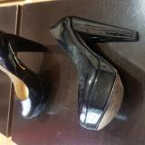 Pantofi cu platforma 36 - Pantof dama, Culoare: Negru