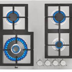 Plita Teka EFX 60 4G AI AL DR CI gaz 4 arzatoare Aprindere Electrica Inox - Plita incorporabila Teka, Argintiu, Numar arzatoare: 4