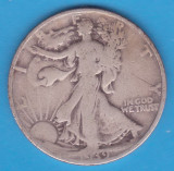 (1) MONEDA DIN ARGINT SUA - HALF DOLLAR 1939, LIT. S, WALKING LIBERTY