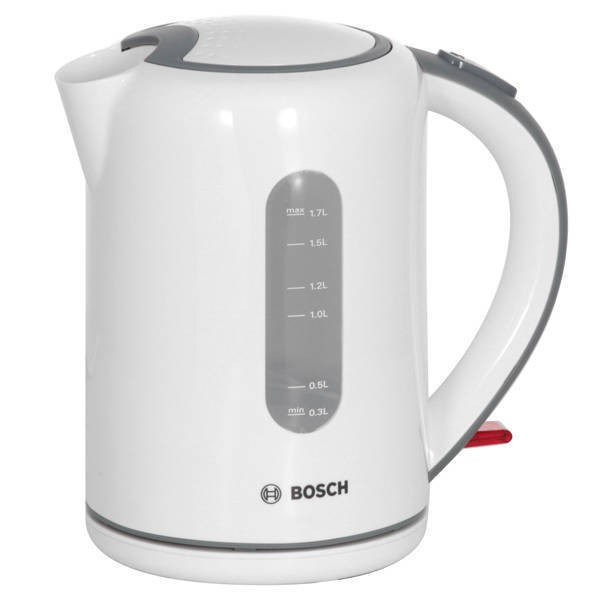 Fierbator Bosch TWK7601 2200W 1.7 l alb / gri foto mare