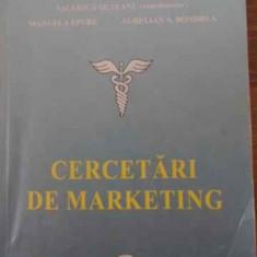 Cercetari De Marketing - Valerica Olteanu, Manuela Epure, Aurelian A. Bondr, 397498 - Carte Marketing