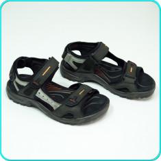 DE FIRMA → Sandale de calitate, piele, comode, aerisite, ECCO _ barbati | nr. 40 - Sandale barbati Ecco, Culoare: Antracit