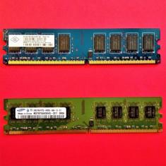 Memorie Desktop / PC 2 GB RAM DDR2 Samsung/Nanya 2Rx8 PC2-6400S 800MHz - Memorie RAM
