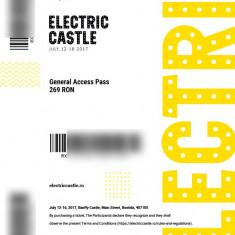 Vând bilet Electric castle General Access Pass - Bilet concert