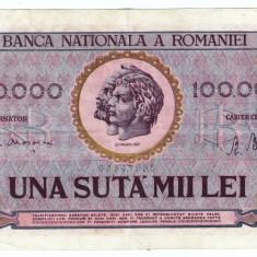 Bancnota 100000 lei 25 ianuarie 1947 - Bancnota romaneasca