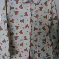 Pijama galbena cu ursuleti Global, Marime: Alta, Culoare: Crem, Unisex