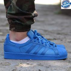 "ADIDASI ORIGINALI 100% Adidas Superstar "" BLUE Edition "" nr 42;43 1/3 - Adidasi barbati, Culoare: Din imagine"