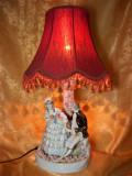 Cumpara ieftin Veioza portelan maiolica, majolica, stil Fragonard