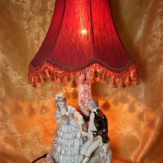 Veioza portelan maiolica, majolica, stil Fragonard