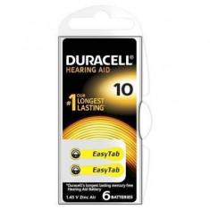 Baterie pentru aparat auditiv Duracell ZA 10 6buc 1.4V