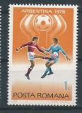 DEPARAIATE-1978 Romania,LP 954-C.M. de fotbal,Argentina , VAL 1 LEU-MNH, Sport, Nestampilat