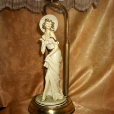 Veioza Art Nouveau, portelan craquelle, Italia, colectie, vintage