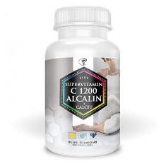 Blue supervitamin C 1200 Alcalin+Calciu – Vitamina C din ascorbat de calciu si maces