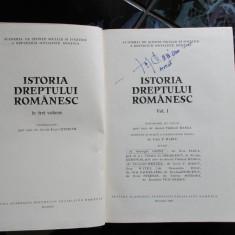 ISTORIA DREPTULUI ROMANESC VOL.I V. HANGA 1980 - Carte Istoria dreptului