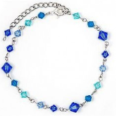 Bratara cu 17 cristale swarovski tip romb - Bratara Swarovski