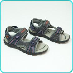 DE FIRMA → Sandale comode, aerisite, piele, de calitate, GEOX → baieti | nr. 35 - Sandale copii Geox, Culoare: Gri, Piele naturala