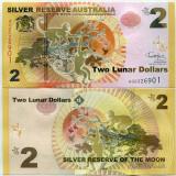 !!! RARR : AUSTRALIA - FANTASY NOTE - 2 DOLARI LUNARI 2016 , MAIMUTA - UNC