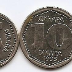 Iugoslavia Set 6 - 1, 2, 5, 10, 50, 100 Dinara 1993 - UNC !!!, Europa