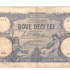 SV * Romania 20 LEI 1929, 19 septembrie G - VG vezi descrierea - Bancnota romaneasca