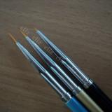 Set 3 pensule fir scurt pentru unghii manichiura nail art *** nou - Ustensile