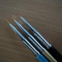Set 3 pensule fir scurt pentru unghii manichiura nail art *** nou