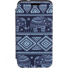 Husa Flip Cover Tellur Folio pentru Samsung J1 (2016) Elefant - Husa Telefon Tellur, Piele Ecologica, Cu clapeta