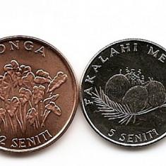 Tonga Set 4 - 1, 2, 5, 10 Senti 2002/05 - UNC !!!, Australia si Oceania