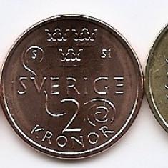 Suedia Set 3 - 1. 2. 5 Kronor 2016 - Carl XVI Gustaf, KM-New UNC !!!, Europa