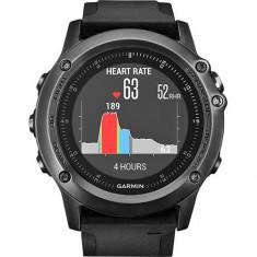 Smartwatch Garmin Fenix 3 Sapphire HR Curea Silicon Negru