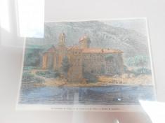 Litografie Biserica Cozia color foto