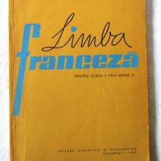 """LIMBA FRANCEZA PENTRU Clasa a VIII-a (Anul I)"", Ion Diaconu / Ion Vicol, 1963 - Manual scolar, Clasa 8, Limbi straine"