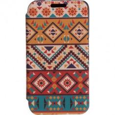 Husa Flip Cover Tellur Folio pentru Samsung J1 (2016) Mozaic, Piele Ecologica, Cu clapeta