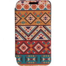 Husa Flip Cover Tellur Folio pentru Samsung J1 (2016) Mozaic - Husa Telefon Tellur, Piele Ecologica, Cu clapeta