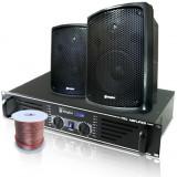 Set sistem audio PA boxe, amplificator difuzor
