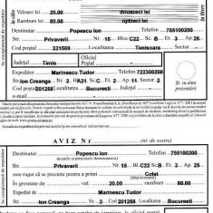 Aplicatie completat formulare postale (buletin expeditie, mandat) + ETICHETE - Aplicatie PC