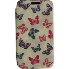 Husa Flip Cover Tellur Folio pentru Samsung J1 (2016) Butterfly - Husa Telefon Tellur, Piele Ecologica, Cu clapeta