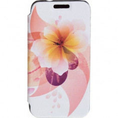 Husa Flip Cover Tellur Folio pentru Samsung J1 (2016) Yellow Flower - Husa Telefon Tellur, Piele Ecologica, Cu clapeta