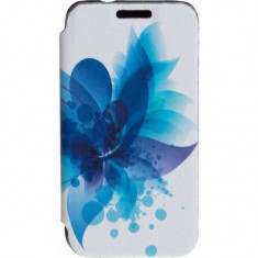 Husa Flip Cover Tellur Folio pentru Samsung J1 (2016) Blue Flower