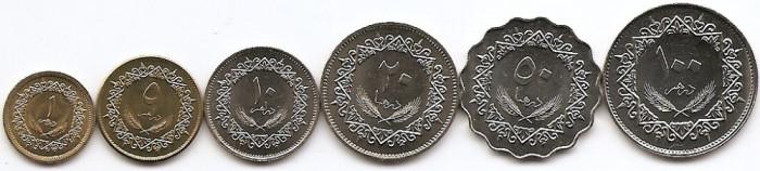 Libia Set 6 -1, 5, 10, 20, 50, 100 Dirham 1979 - UNC!!!
