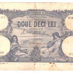 SV * Romania 20 LEI 1929 +/- VF - Bancnota romaneasca