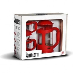 Set Coffee Press Bialetti Rosu - Infuzor ceai