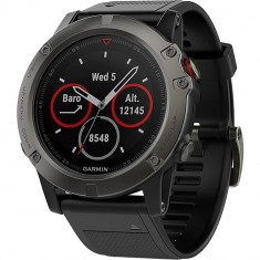 Smartwatch Garmin Fenix 5x Sapphire Edition Otel Inoxidabil Gri