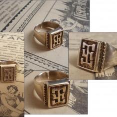 Inel vechi placat cu aur - UNISEX - Inel placate cu aur