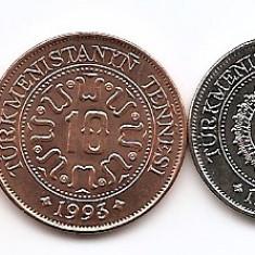 Turkmenistan Set 5 - 1, 5, 10, 20, 50 Tenge 1993 - UNC !!!, Asia